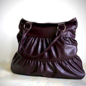 "MORELLE ""Truffle"" in Plum Shoulder Bag - FROM ETSY"